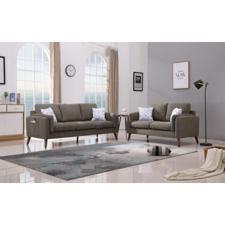 Sofa and Love Seat with USB Chargers