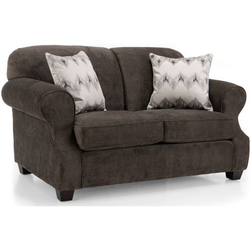 Decor-Rest 2000 Loveseat with Rolled Arms