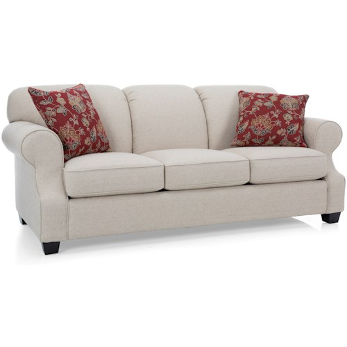 Decor-Rest 2000 Queen Sleeper Sofa with Rolled Arms