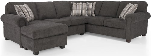 Decor-Rest 2006 Sectional Series Contemporary Sectional with Chaise