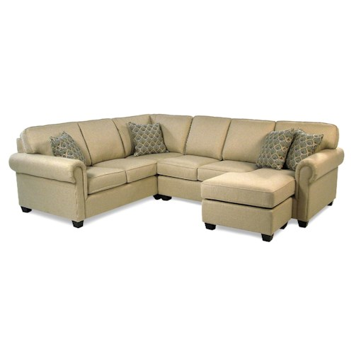 Decor-Rest Blaine Transitional Sectional Sofa Group with Chaise
