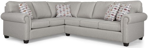 Decor-Rest 2006 Sectional Sectional Sofa Group with Rolled Arms