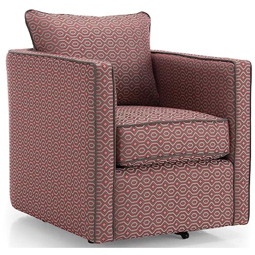 Decor-Rest 2050 Swivel Chair w/ Loose Back Cushion