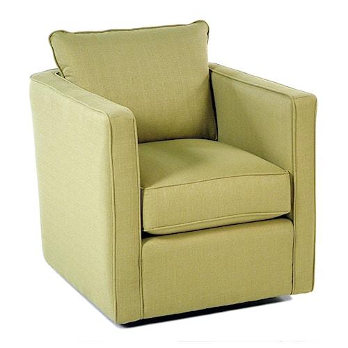 Decor-Rest Gatsby Swivel Chair w/ Loose Back Cushion
