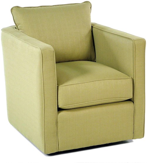 Decor-Rest Gatsby Swivel Chair w/ Loose Back Cushion