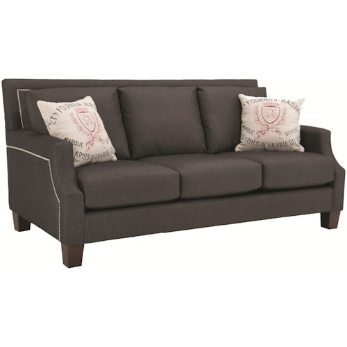Decor-Rest 2135  Transitional Sofa with Modern Furniture and Traditional Furniture Styles