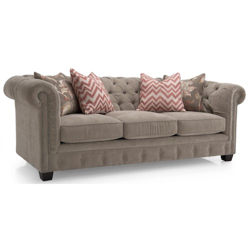 Decor-Rest 2230 Series Contemporary Tufted Back Sofa