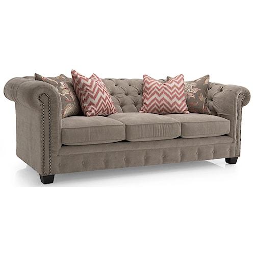 Decor-Rest 2230 Series Contemporary Tufted Back Sofa