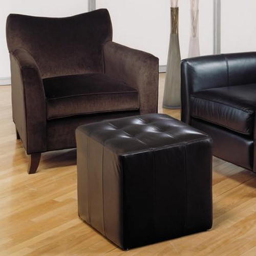 Decor-Rest 2242 Chair and Ottoman with Tight Back and Box Seat