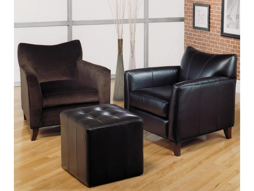 Taelor Designs 2242Contemporary Chair and Ottoman
