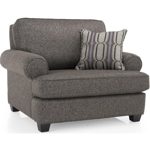 Decor-Rest 2285 Upholstered Chair and a 1/2 w/ Accent Pillow