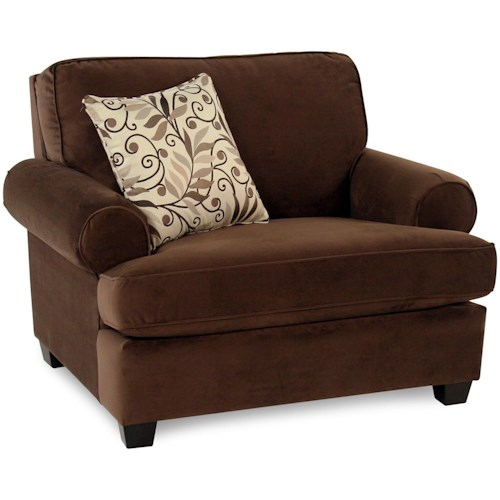 Decor-Rest Hot Chocolate Upholstered Chair and a 1/2 w/ Accent Pillow