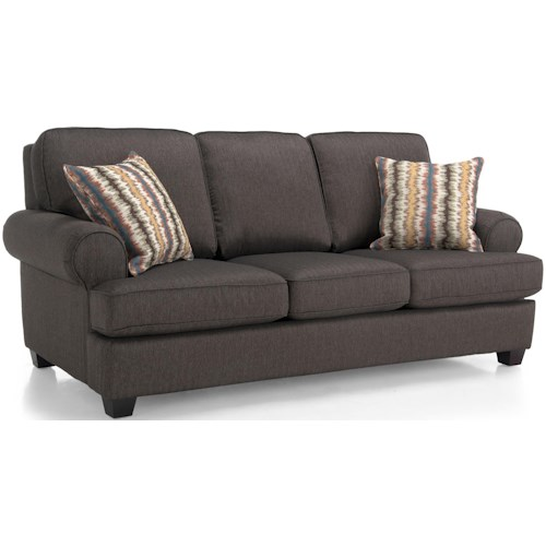 Decor-Rest 2285 Stationary Sofa w/ Accent Pillows