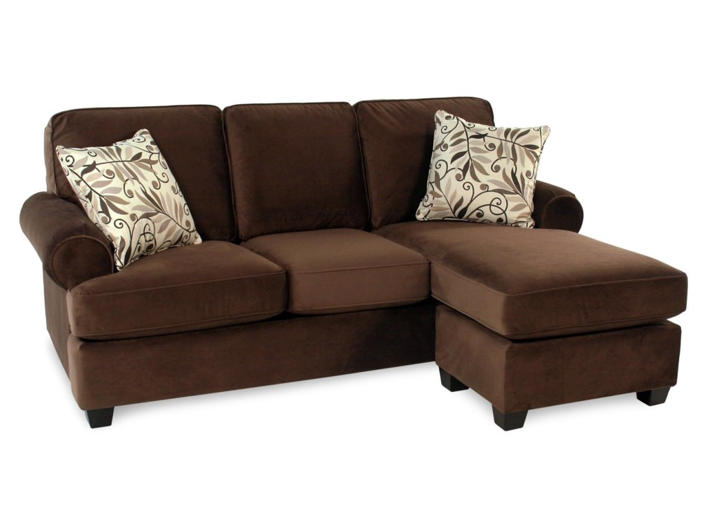Decor-Rest Hot ChocolateSofa w/ Reversible Chaise