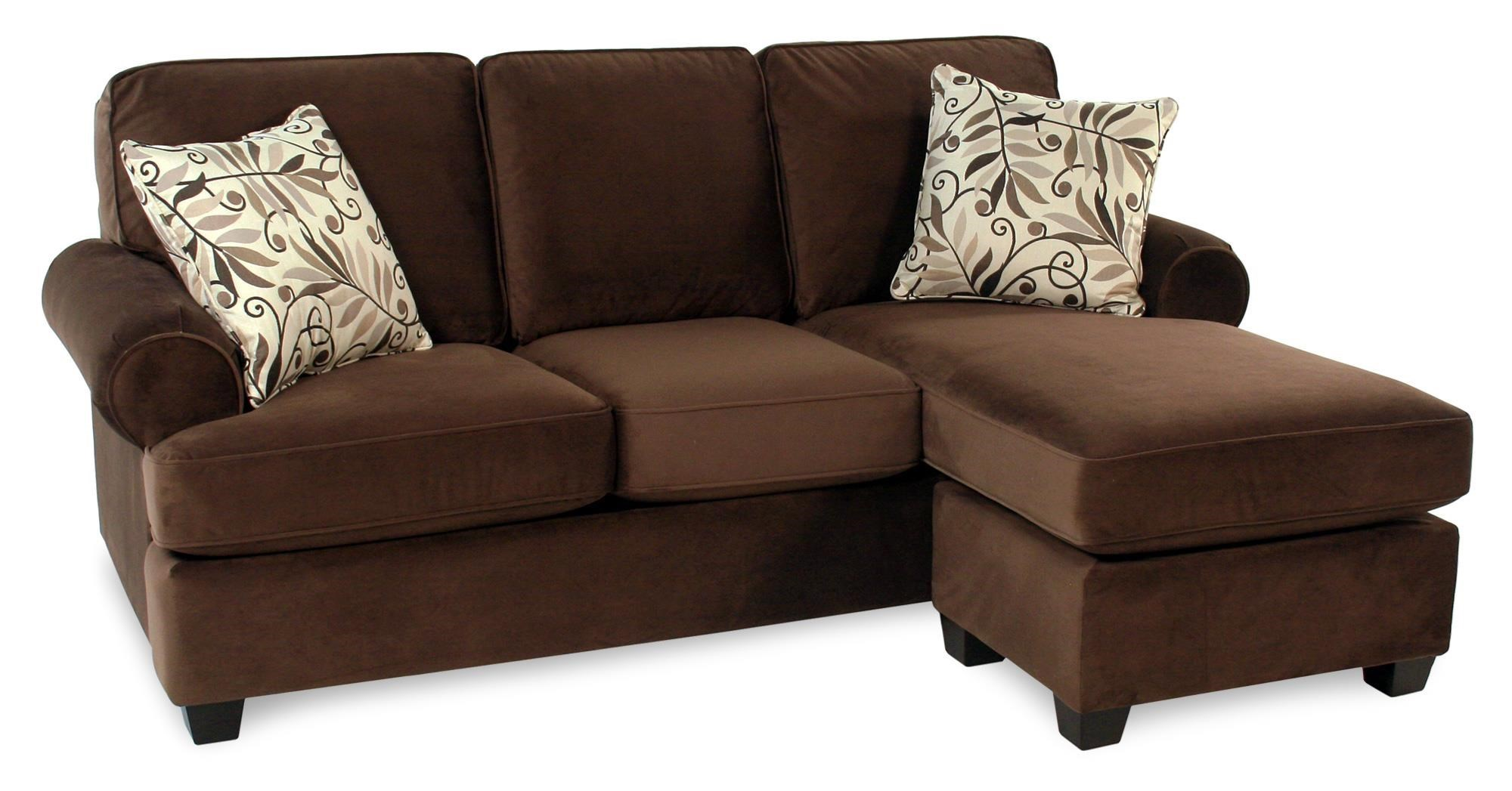 Hot Chocolate Sofa W/ Reversible Chaise By Decor Rest At Rotmans