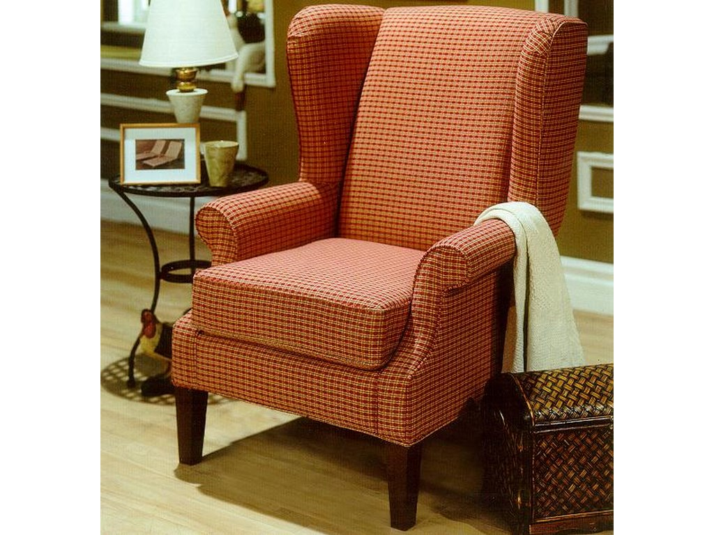 Decor-Rest 2290Upholstered Wing Chair with Rolled Arms