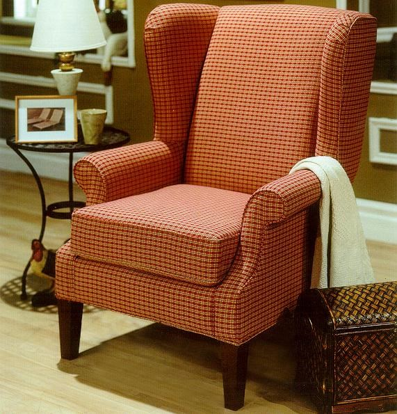 Taelor Designs 2290Upholstered Wing Chair with Rolled Arms