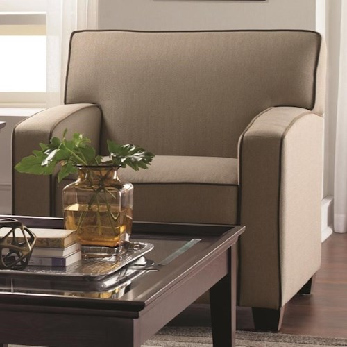 Decor-Rest 2299 Contemporary Chair with Track Arms