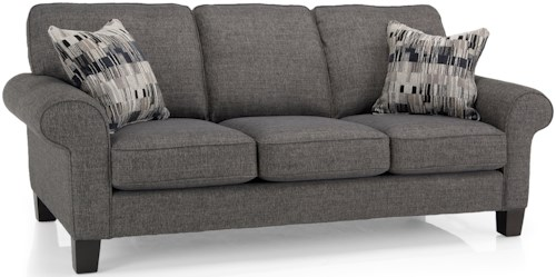 Decor-Rest 2323 Casual Sofa with Rolled Arms