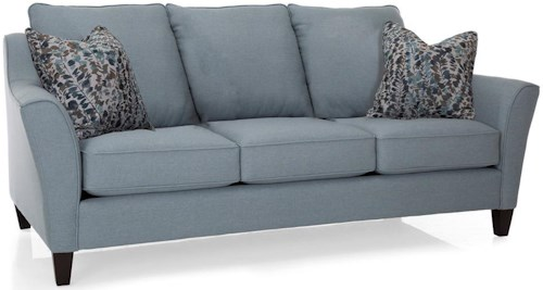 Decor-Rest 2342 Series Contemporary Sofa with Attached Pillow Back