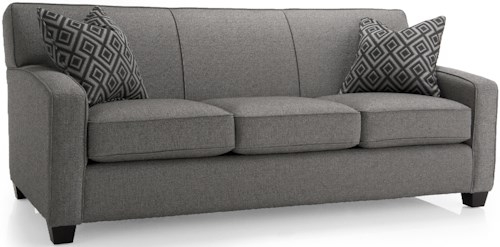 Decor-Rest 2401 Stationary Sofa w/ Accent Pillows