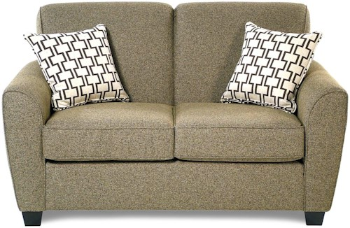 Decor-Rest Balance Transitional Loveseat with Flared Arms