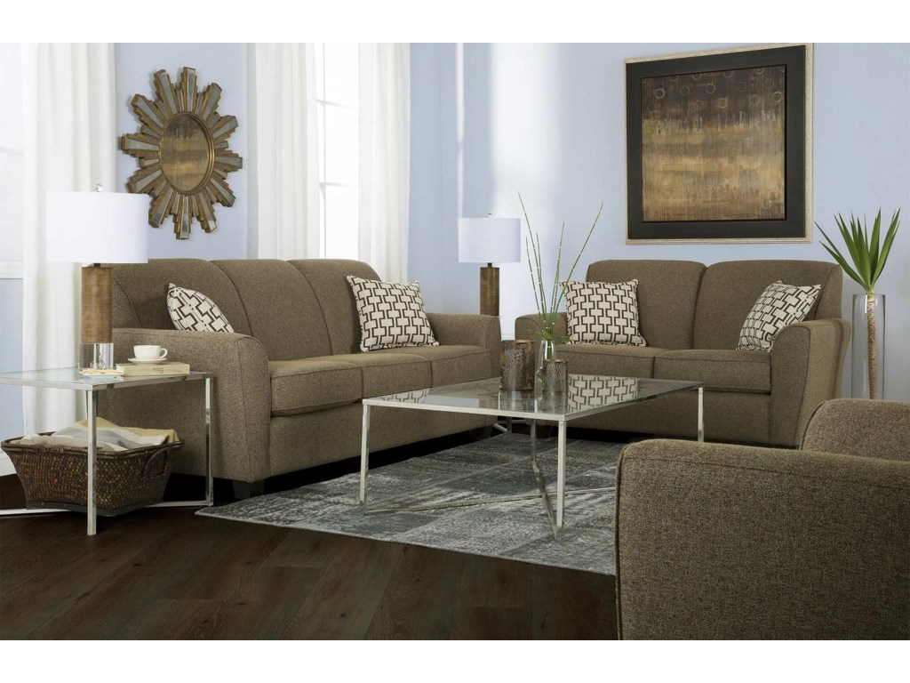 Decor-Rest BalanceTransitional Loveseat w/ Flared Arms
