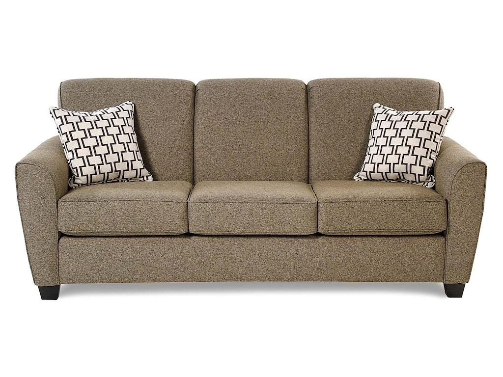 Decor-Rest BalanceTransitional Sofa w/ Flared Arms