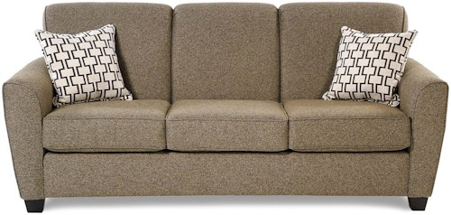 Decor-Rest Balance Transitional Sofa with Flared Arms