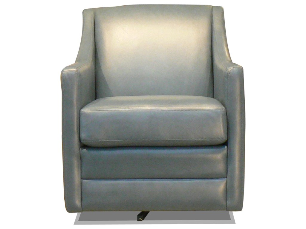 Taelor Designs TracyLeather Swivel Chair