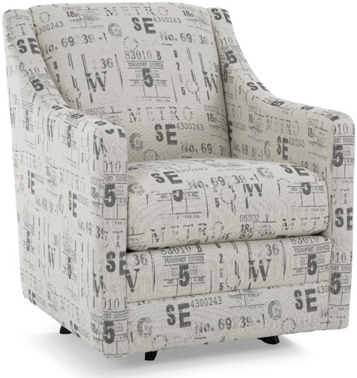 Decor-Rest 2443 Traditional Swivel Chair with Narrow Track Arms