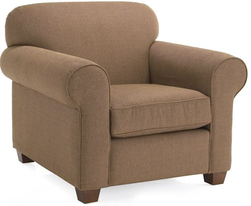 Decor-Rest 2455 Upholstered Chair w/ Rolled Arms