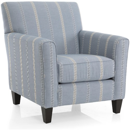 Decor-Rest 2468 Transitional Accent Chair with Tight Seat Back