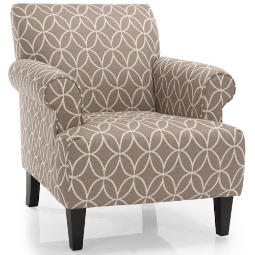Decor-Rest 2469 Upholstered Chair w/ Rolled Arms