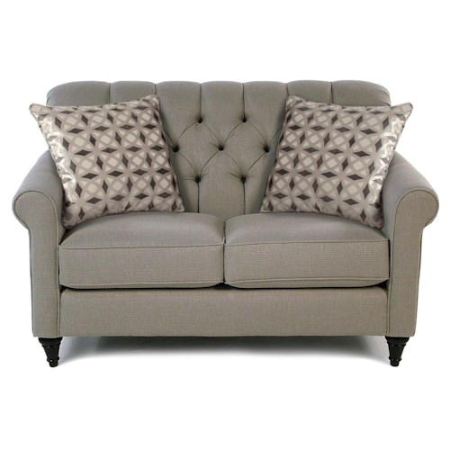 Decor-Rest Maxine Love Seat w/ Tufted Back