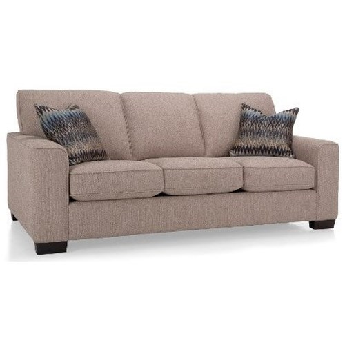 Decor-Rest 2483 Casual Sofa with Wide Track Arms
