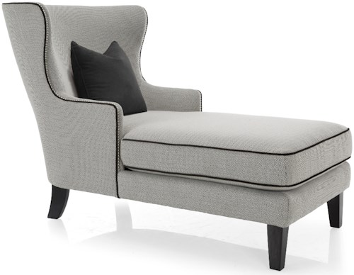 Decor-Rest 2492 Traditional Style Chaise with Wing Back