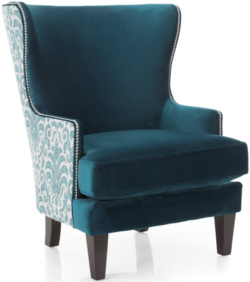Decor-Rest 2492 Traditional Wing Back Chair with Nailhead Trim