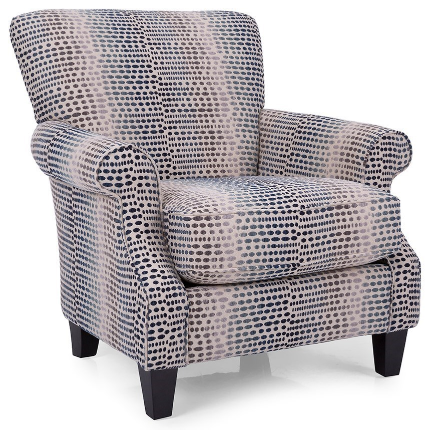 Casual Chair with Rolled Arms