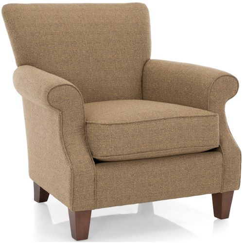 Decor-Rest 2538 Casual Chair with Rolled Arms
