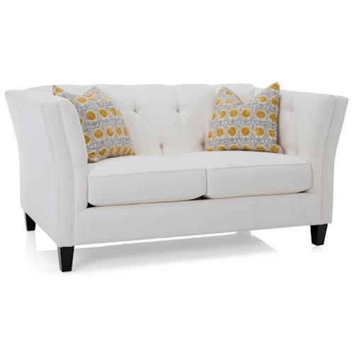 Decor-Rest 2555 Traditional Loveseat with Tufted Back
