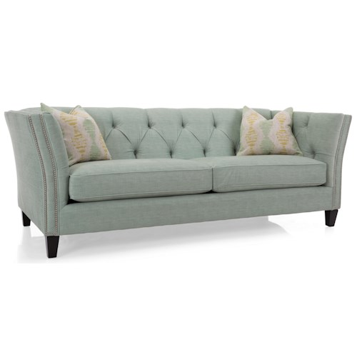 Decor-Rest 2555 Traditional Sofa with Flared Arms