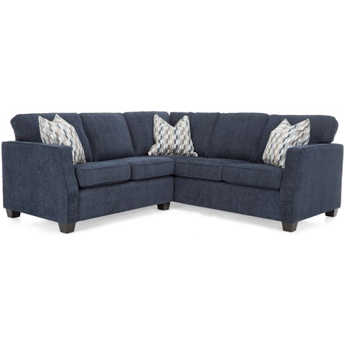 Decor-Rest 2570 Contemporary Sectional Sofa with Track Arms