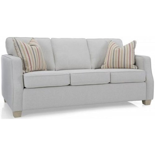 Decor-Rest 2570 Contemporary Sofa with Tapered Feet