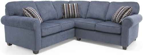 Decor-Rest 2576 Transitional Sectional Sofa