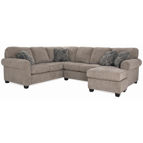 Decor-Rest 2576 Casual Sectional with Chaise