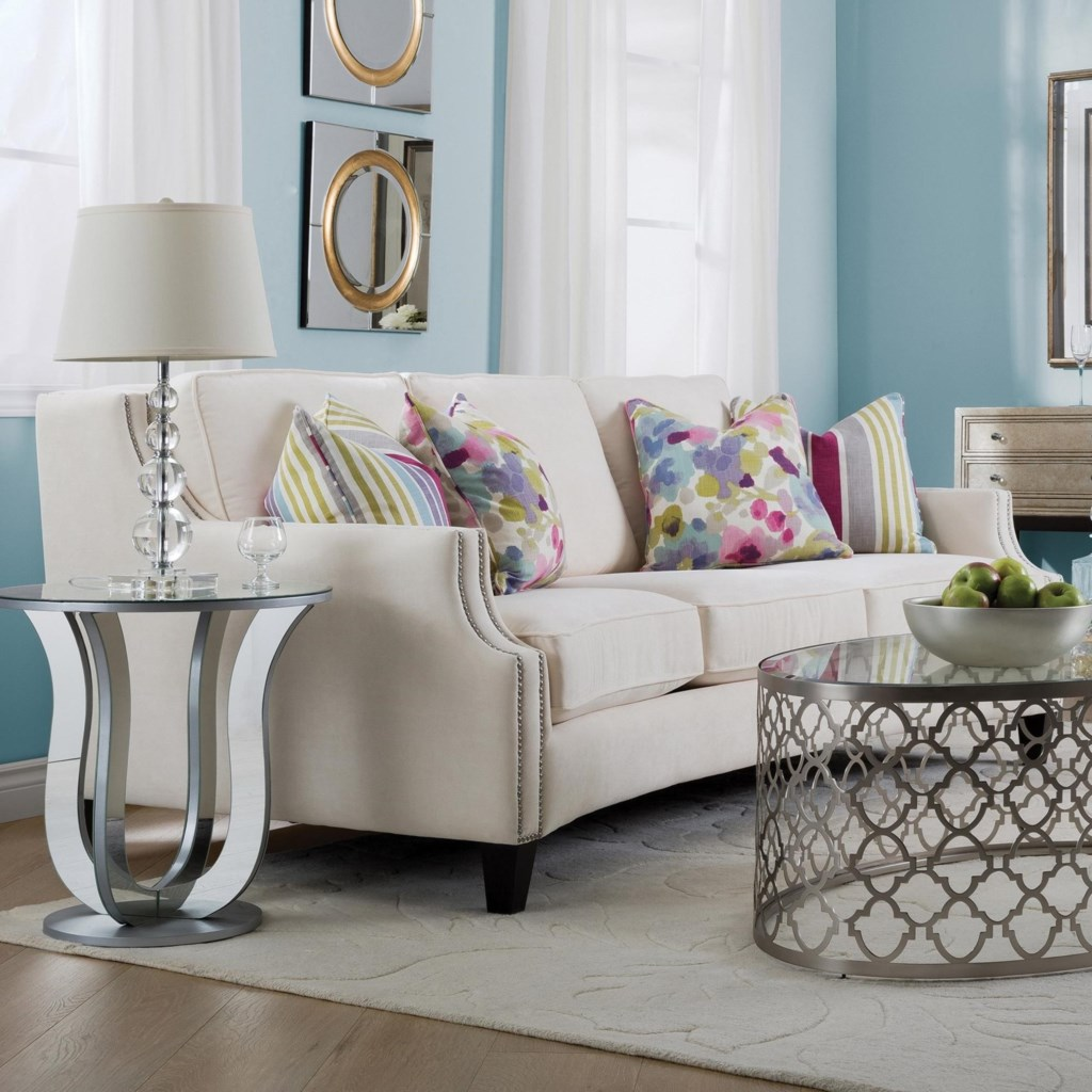 Decor Rest 2589 Traditional Sofa With Track Arms And Nailhead Trim