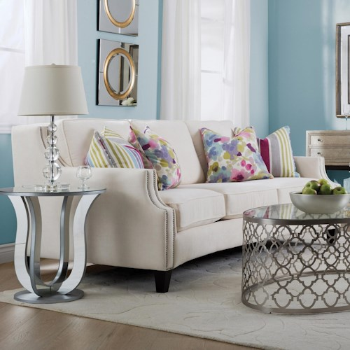 Decor-Rest 2589 Traditional Sofa with Track Arms and Nailhead Trim