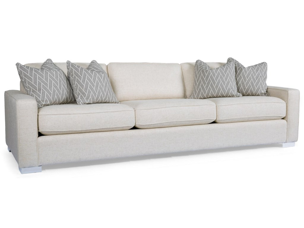 Decor Rest 2591 Contemporary 102 Sofa With Track Arms