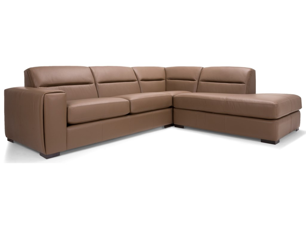 Decor-Rest 2656 - 36562 Pc Sectional Sofa w/ Right Facing Bumper